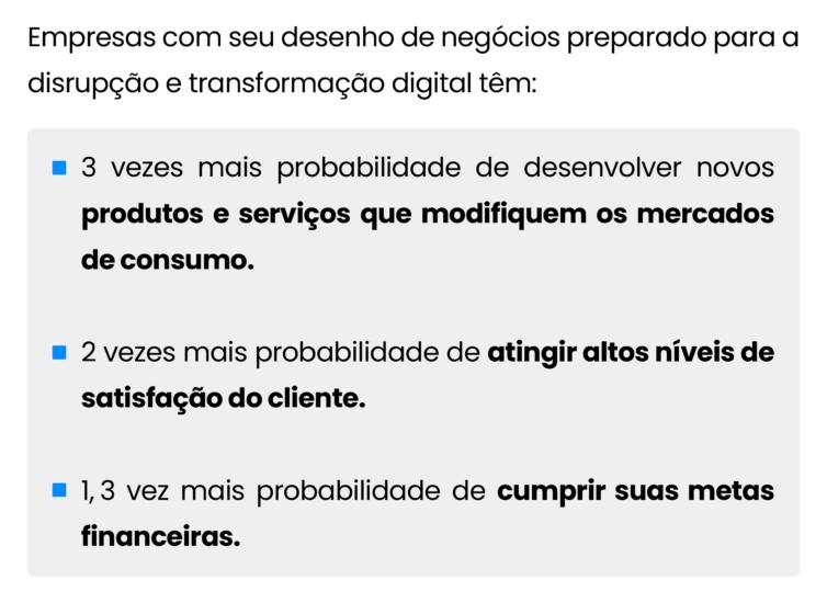 3 características de de negócio das empresas preparadas para disrupção e transformação digital